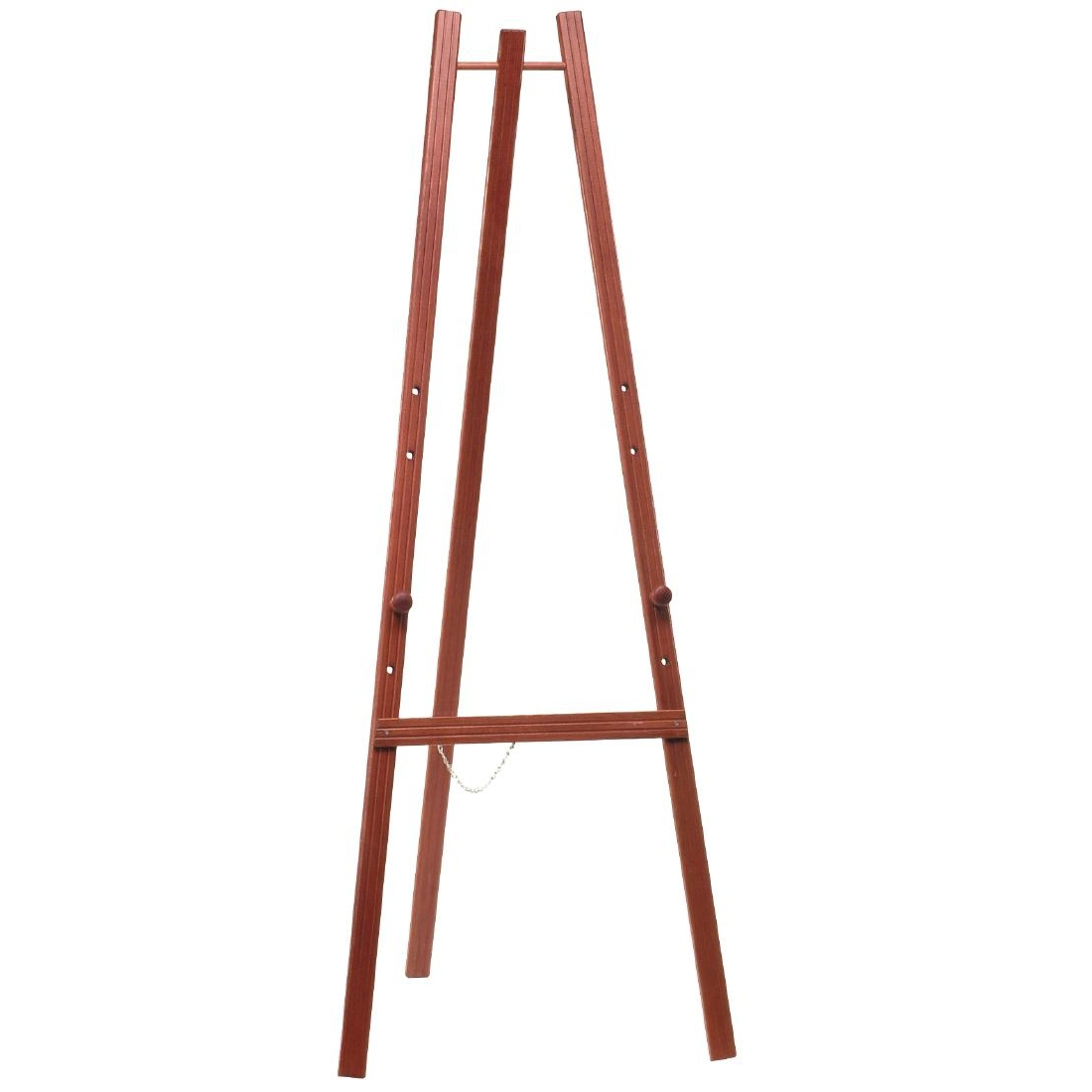 Securit Floor Standing Chalkboard Easel Mahogany