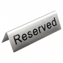 Brushed Steel Reserved Table Sign