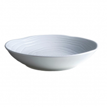 Pillivuyt Teck Shallow Round Bowl 260mm White