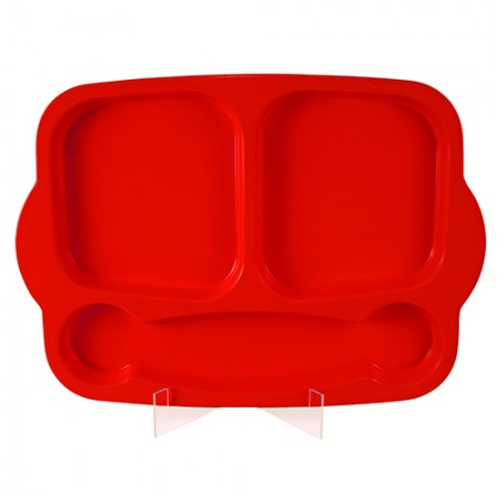 Red Melamine Meal Tray 400x290x25mm